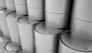 Interra Global 55 gallon grey drums.